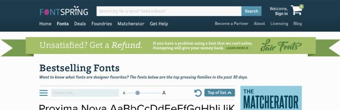 FontSpring Matcherator