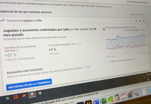 sección estadísticas de Google Ads